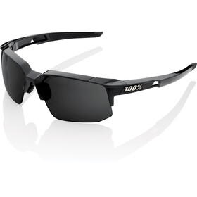 100% Speedcoupe Gafas, polished black/grey peakpolar